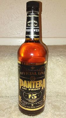 Pantera bottle of bourbon whiskey, 750 ML, 101 proof Official Live, Dimebag