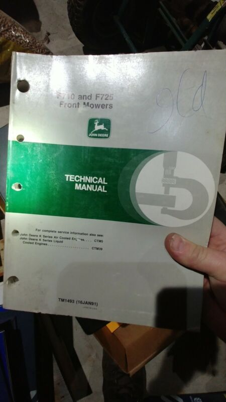 John Deere F710 and F725 Front Mower Technical Service Manual - TM-1493