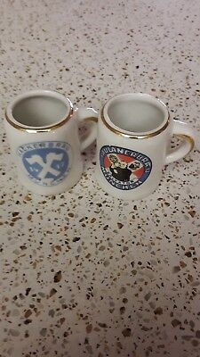 Vintage German Mini Beer Stein Shot Glasses (Mini Beer Shot Glasses)