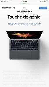 MacBook Pro 13 touch bar and Touch ID i5 256go
