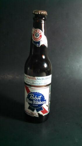 *Vintage Paper Label Brown Glass Beer Bottle PABST BLUE RIBBON Beer PBR