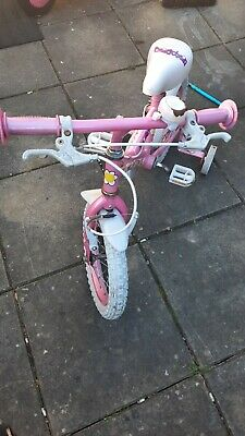 Girls bicycle with stabilisers / 3 to 5