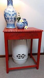 Red Oriental Chinese Style Side Lamp Table Mandurah Mandurah Area Preview