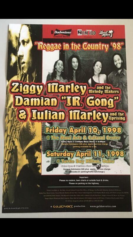 ZIGGY MARLEY•DAMIAN JR GONG•JULIAN MARLEY• 1998 REGGAE IN THE COUNTRY HAWAII....