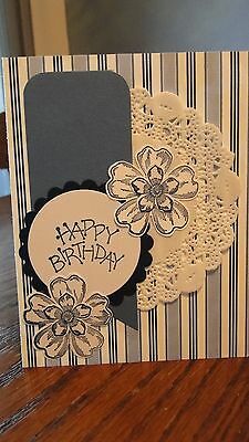 "Stampin Up Card Kit Set Of 4  ""Happy Birthday"" cards"