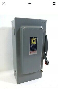 Square D H-322-n 60a 240v Fusible Safety Disconnect Switch H322n 60 Amp Loc2s3