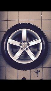 Brand new winter tires and 17inch Audi rims