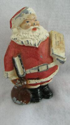 Vintage Santa Claus Advertising Bank – Mid-Century Plasto Mfg Co. Cast Aluminum