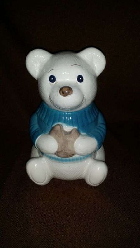 Vintage Teddy Bear With Cookie Cookie Jar