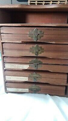 Kingsley 5 Boxes Hot Foil Stamping Machine Type Font In Original Wooden Case