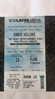 Robbie Williams Tickets X 2