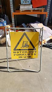Forklift sign and safety pole Kilsyth Yarra Ranges Preview