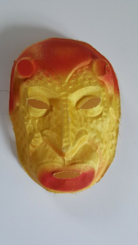 Vintage Painted Linen Fabric monster Face Mask