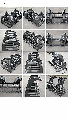 Bobcat Skid Steer Attachment - 72 Heavy Duty Root Grapple Bucket - Free Ship