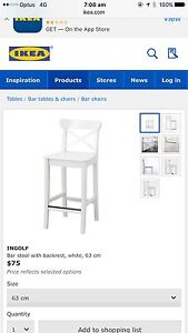 Wanted to buy: 2 inglof (or similar style) bar stools 63cm Shellharbour Shellharbour Area Preview