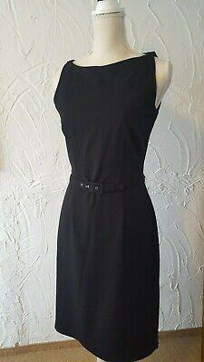 Hochwertiges striking Kleid in Schwarz Größe 36 UK 6 Party Hochzeit mit Gürtel H&M