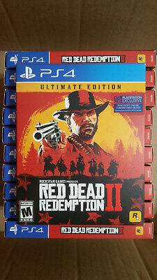 PS4 Red Defunct Redemption 2 Ultimate Edition Brand New Sealed Launch Day