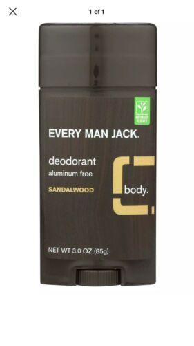 Every Man Jack Body Deodorant - Sandalwood - Aluminum Free -