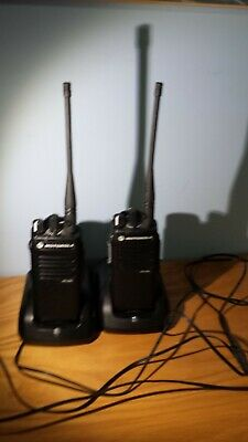 Lot Of 2-motorola Xpr3300e Uhf Radios 16 Channel Rapid Chargers Belt Clip