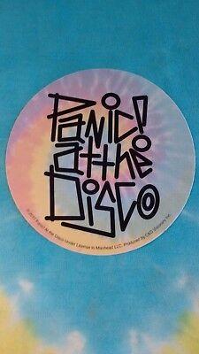Panic  At The Disco Pastel Tie Dye Logo 4 Inch Sticker
