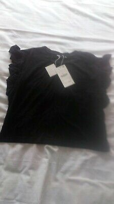 Zara women ZARA Black T-SHIRT Size Small