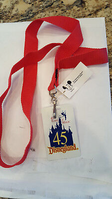 Disneyland 45th Anniversary 2000 & Disney Catalog - Royal Treatment Pin Lanyards
