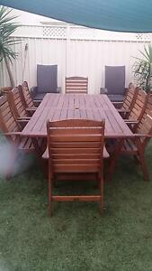 Outback jarrah & 8 chairs Marion Marion Area Preview