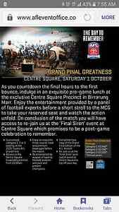2x centre square afl grand final greatness package tickets Forrestfield Kalamunda Area Preview
