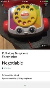 Pull Along Telephone toy [ kids fisher price Mount Waverley Monash Area Preview