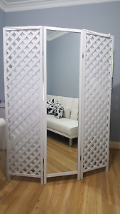 Room divider with mirror Footscray Maribyrnong Area Preview