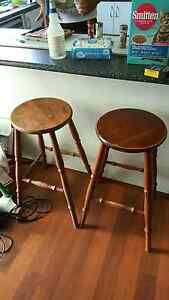 2 wooden bar stools St Clair Penrith Area Preview