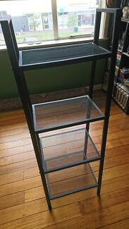 Near new metal 4-tier standing shelf bookshelf