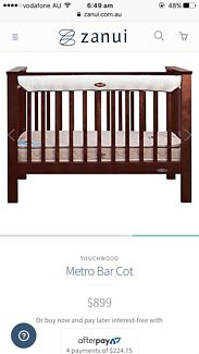 Touchwood cot, draw and mattress. RRP over $1150