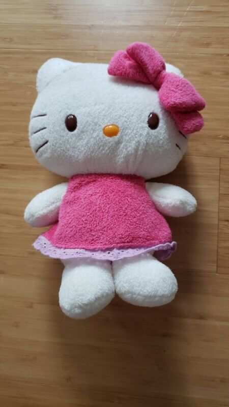 Sanrio Hello Kitty 2011 Plush with Pink Dress Soft Japan Excellent Condition