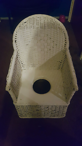 White Antique/Vintage/Retro Wicker Cane Commode/Toilet Arm Childs Shepparton Shepparton City Preview