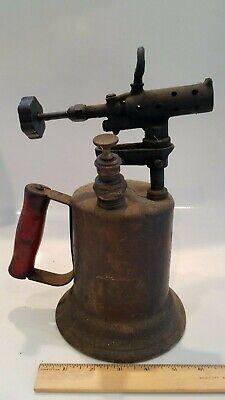 Vintage Brass Clayton & Lambert,Detroit Mich. Antique Handheld Blowtorch 1921