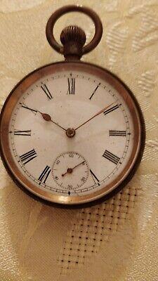 Antique Gun Metal Omega Pocket Watch 4 cm Face Diameter military serial 1437958