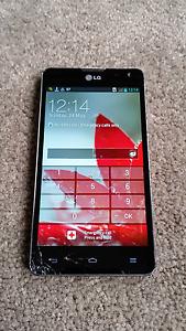 LG Optimus 4G Smart phone (cracked screen) Bulleen Manningham Area Preview