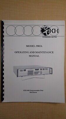 Krohn-hite Model 3905a Ieee-4888 Operating And Maintenance Manual 8e B7