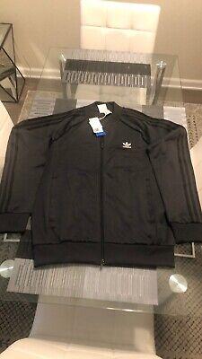 New Men's Adidas Originals Superstar Track Jacket Large L Carbon GC8800