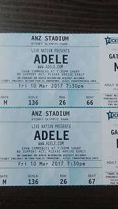 SELLING 4X ADELE CONCERTS ANZ STADIUM 10 MARCH 250$ each Campsie Canterbury Area Preview