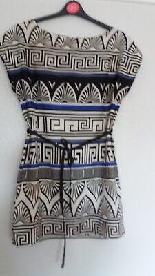 Ladies mini dress with greek style pattern size 12 by DP - Greek Dress Pattern