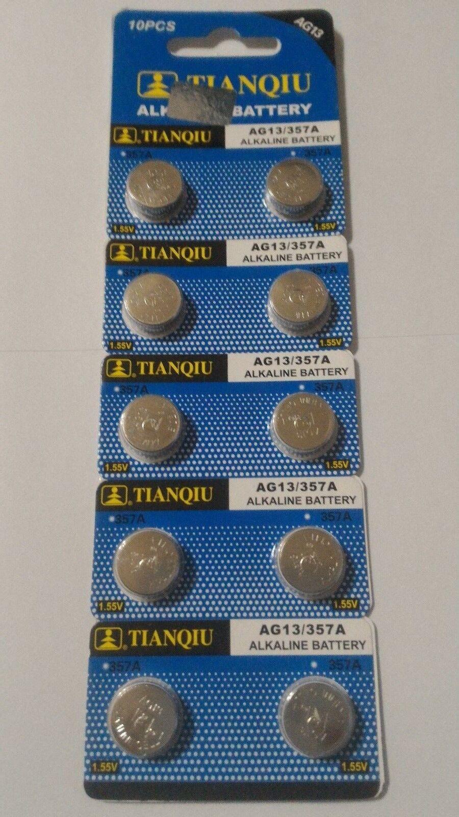 10 Pack AG13 LR44 357 157 303 A76 LR154 L1154 1.5V Alkaline