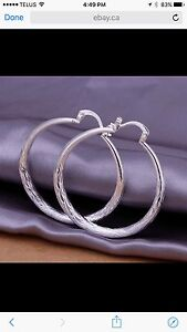 925 Sterling Silver lady charm fashion Earrings. NEW !!!