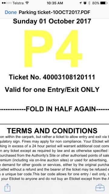NRL Grand Final Ticket Parking P4 ANZ Stadium