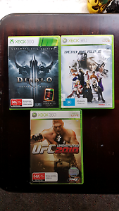 3 x XBox 360 Games Moonee Ponds Moonee Valley Preview