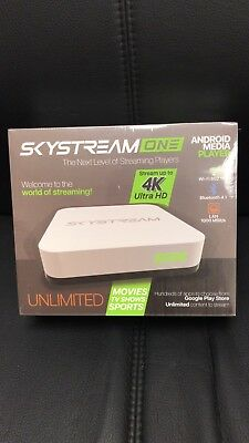 SkyStream ONE Streaming Media Player | Android TV Box with 2GB/16GB, 4K, AC & to