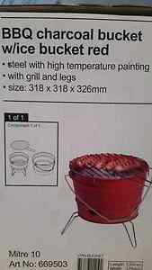 Stainless steel BBQ charcoal bucket w/I've bucket red Frankston Frankston Area Preview