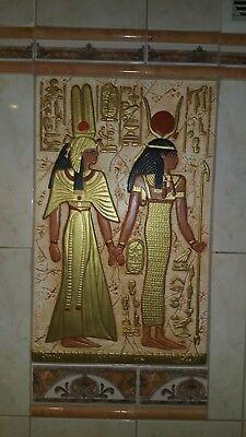 RELIEF HATHOR FLACHRELIEF RELIEFS ÄGYPTISCHE WANDBILD WANDRELIEF ÄGYPTEN BILD