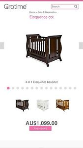 Grotime cot/toddler bed/day bed, mattress and bedding Kingston Kingborough Area Preview